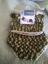 0-9 crocheted hat and diaper cover 3.00