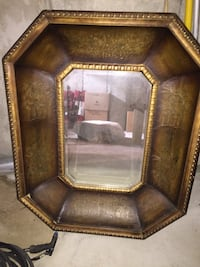 brown wooden framed glass top table Mississauga, L4Z 0B5