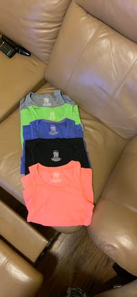 Set of 5 Girls Tank Tops Size Large