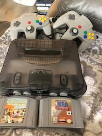 Smoke grey Funtastic n64 with 2 controllers and 2 games  Surrey, V3Z 0J7