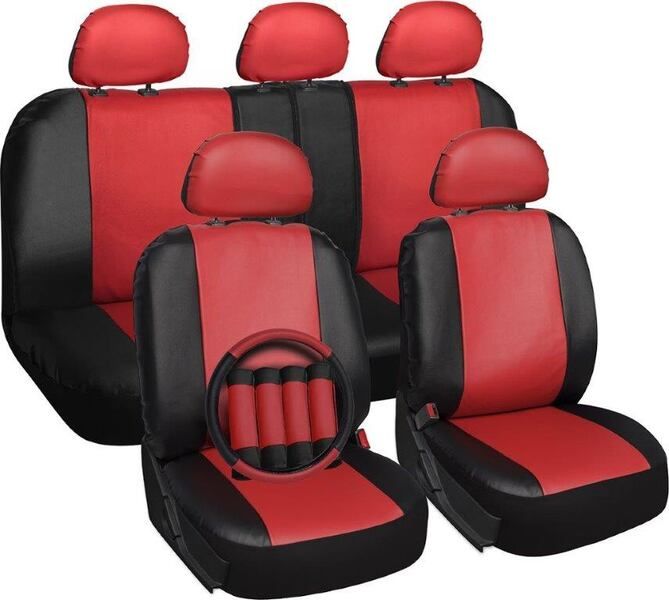 Red black leather car seat 97912047-e107-454d-bbd7-bb94b00c6774