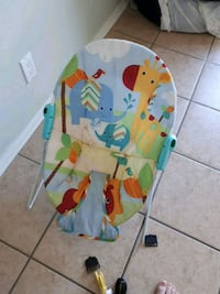 baby's white and blue bouncer Shearwater, B0J 3A0