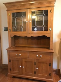 brown wooden cabinet with hutch Frederick, 21703