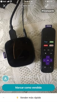 black Roku TV box with remote Chattanooga, 37343