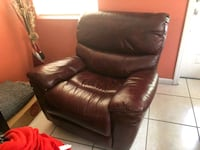 brown leather sofa chair with ottoman Miami, 33155