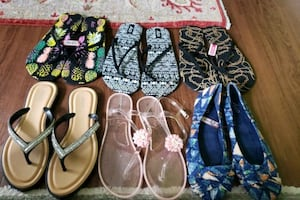Never worn shoes & sandals
