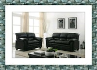 Black sofa and love seat free delivery new bonded McLean