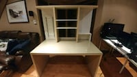 IKEA MALM beige desk with glass top and hutch Gatineau, J8R 2X1
