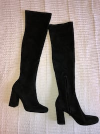 Zara Black Stretch Leg High Heel Boots 3720 km
