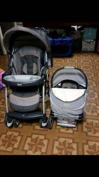 Stroller and carseat with two bases and cozy cover Middlesex, 08846