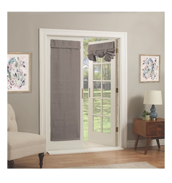 2 French Door Curtain Panels No Doors Included Only Curtains They Don T Need Rod Have Velcro System Taupe Color