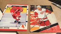 two Martin Lapointe and Daniel Shank trading cards