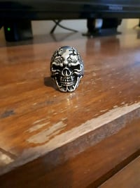 silver and black skull ring Walnut Grove, V1M