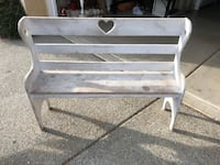 White wooden bench Tracy