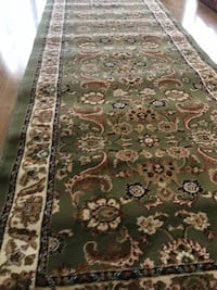 new Traditional Design Hallway Runner Carpet Size 3x10 nice green rug
