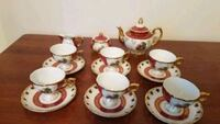Tea set 17 pc red and gold Falls Church, 22043