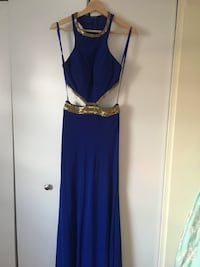 Women's blue gown with open back. Size: XS Hoffman Estates, 60169