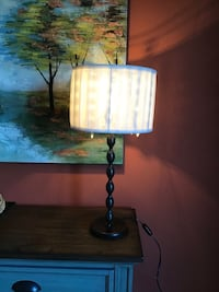 Table lamp with glass beads.