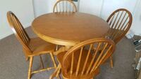 round brown wooden table with four chairs dining set Coventry, CV2 2HX