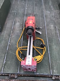 Hilti concrete bore drill with several bits and compressed water tank Oklahoma City, 73099