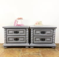 Gorgeous weathered gray nightstands  Covina, 91722
