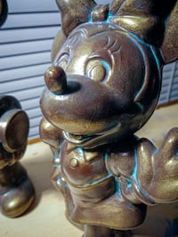 Mickey And Minnie (2) Ceramic Statues