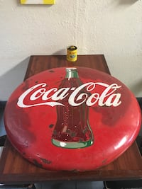 Vintage Coca Cola button sign