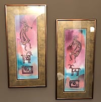 two brown wooden framed wall decors Nashville, 37013