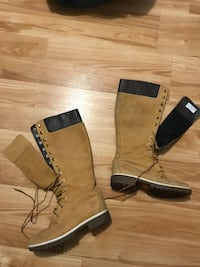 Ladies Timberland Knee High Lace Up Wheat Boots - Size 8 1/2 - Great condition!