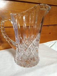 Nice Crystal Glass Pitcher Conestoga, 17551