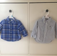Ralph Lauren two baby boy Shirts, size 6months old and 9mo Mississauga, L5A 2T8