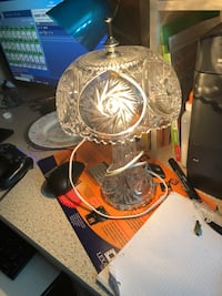 Pinwheel crystal table lamp/light . Pristine condition, working well  Hamilton, L9A 1T3