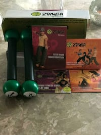 Zumba exercise dvd set and weights  Shelton, 06484
