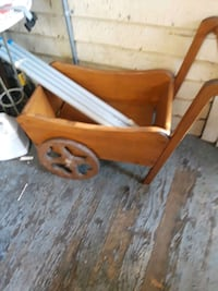 cute little wheel barrel  for decor  cute for putting presents in