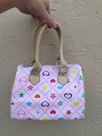 Pink and white leather tote bag San Jose, 95131
