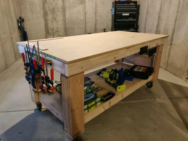 Swell Used Large Workbench On 4 Wheels For Sale In Fort Collins Gmtry Best Dining Table And Chair Ideas Images Gmtryco