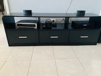 Black, 3 drawers TV stand
