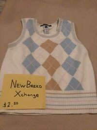 white and gray gap sweater vest  Dumfries
