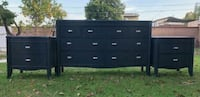 Mid century/Credenza, Bedroom set, Charcoal gray Los Angeles, 90045
