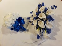 Maid of honour and bride bouquet