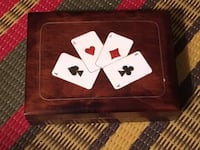 Wood playing card case Toronto, M2M 2E4
