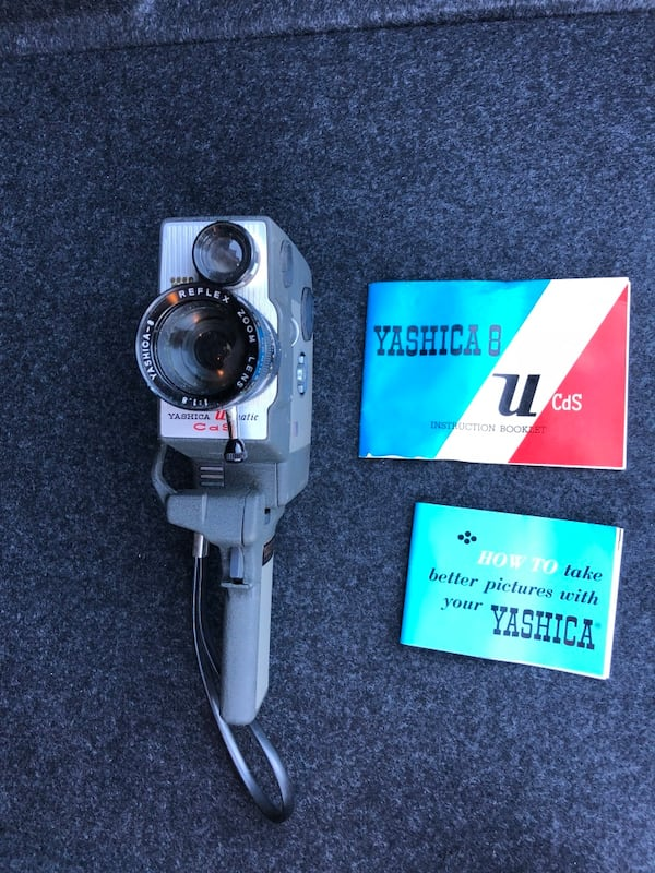 Black and gray vintage Yashica video camera 0