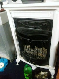 black and white electric fireplace Homer City, 15748