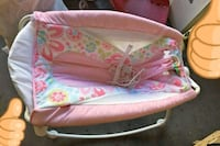 baby's pink and white bouncer Livingston, 95334