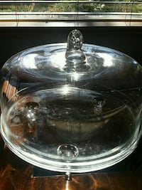 Large Glass cake stand with lid  Maple Ridge, V2X 8C3