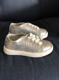 New Michaels Kors silver toddler sneakers, size 8