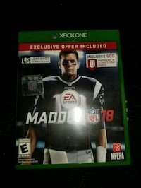 Madden NFL 18 Xbox One game case Easley, 29642