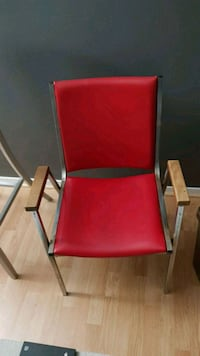 red and gray metal armchair Minneapolis, 55401