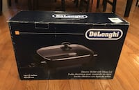 "New De'Longhi BG45 Electric Skillet with Glass Lid, 16"" x 12"", Black Gaithersburg, 20882"
