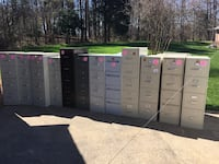 (Lot 12) 4 and 5-Drawer File Cabinets (used)(qty12) Clover, 29710